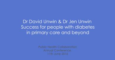 PHC Annual Conference 2016 – Dr David Unwin & Dr Jen Unwin