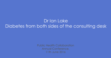 PHC Annual Conference 2016 – Dr Ian Lake