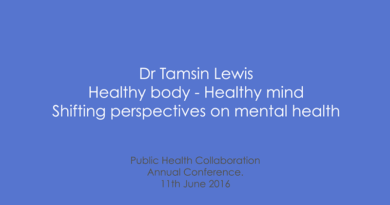 PHC Annual Conference 2016 – Dr Tamsin Lewis