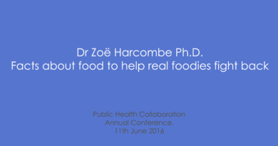 PHC Annual Conference 2016 – Zoe Harcombe