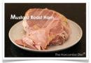 Mustard roast ham
