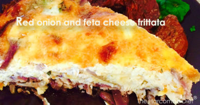 Red onion and feta cheese frittata