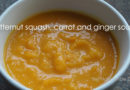 Butternut squash, carrot and ginger soup